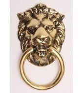 Lion Head Brass Knocker