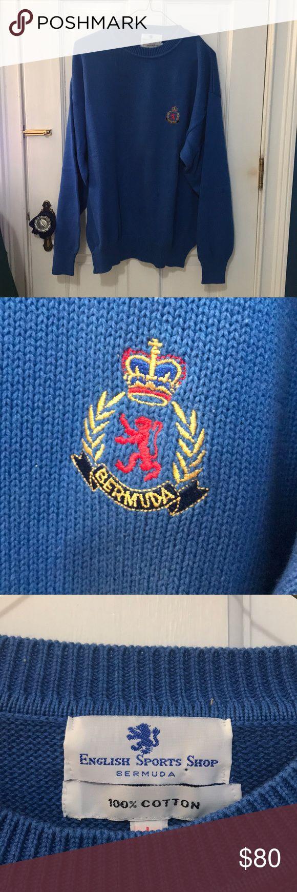English sports shop Bermuda vintage sweater in 2020