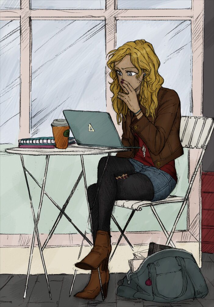 Annabeth Chase<< she cant be on a laptop tho cuz it will attract monsters<<she can its that laptop daedalus gave her