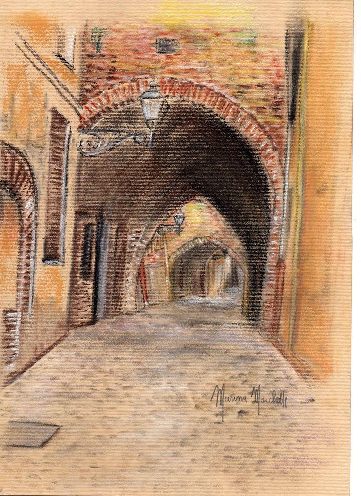 #Via delle Voltei# Ferrara#marinamarchetti#disegni