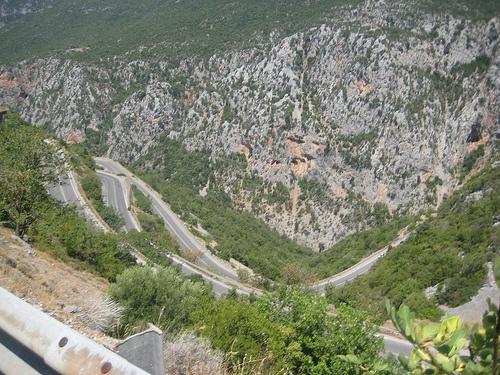 Greek mountain roads