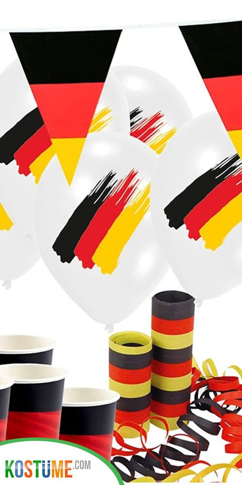 Fussball Partyset Deutschland Flagge Fur 8 Personen Party Set