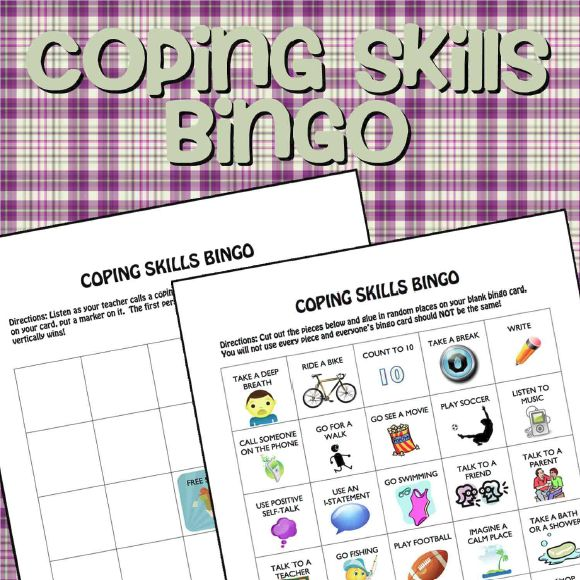 Coping Skills Bingo. Why didn't I think of that?!
