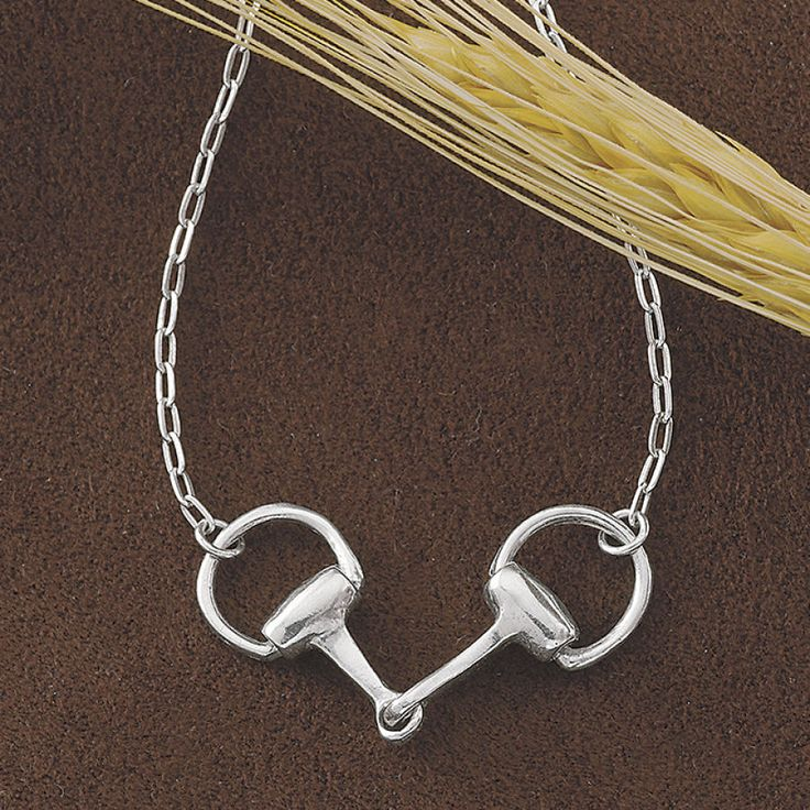 Sterling Snaffle Bit Necklace - Horse Themed Gifts, Clothing, Jewelry and Accessories all for