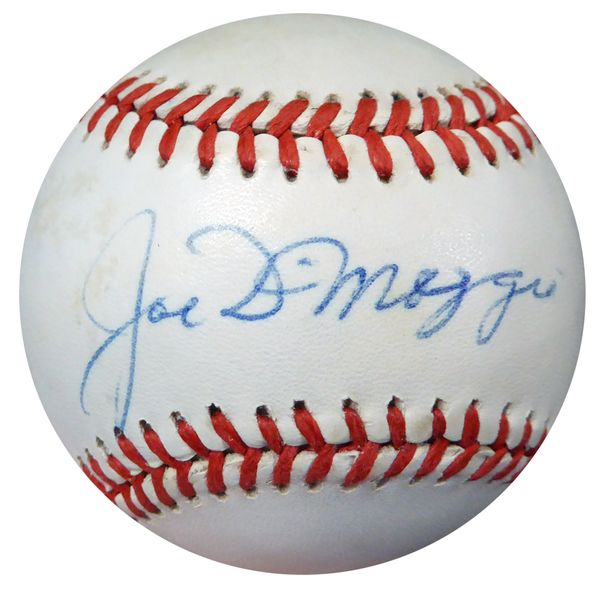 Joe DiMaggio Autographed Official AL Baseball New York Yankees PSA/DNA #AB04693