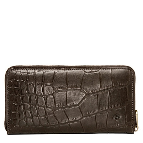MULBERRY Croc-embossed wallet