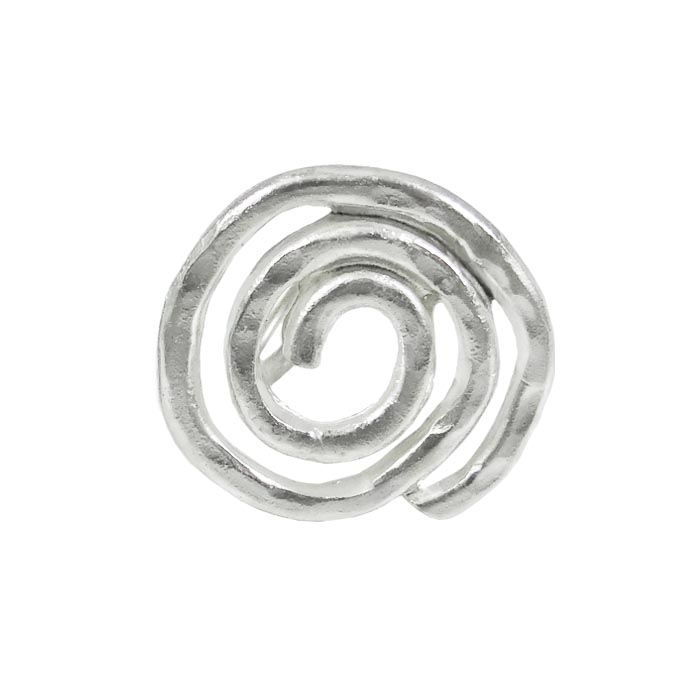 This Spiral ring was created to pass on this ubiquitous symbol of vital force. It's an other shape of spiral which inspired us to engrave it by hand and give an alternative approach, that will impress and become your vital force.  Dimensions: 3cm x 3cm Silver-plated bronze