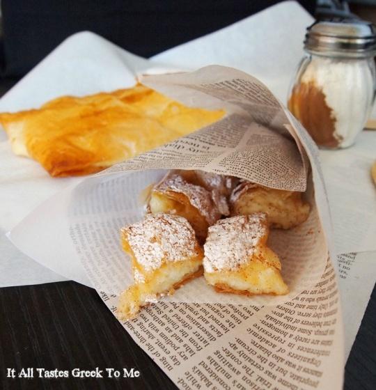 Bougatsa with Sweet Custard - Greek Sweet Phyllo Pie It All Tastes Greek To Me
