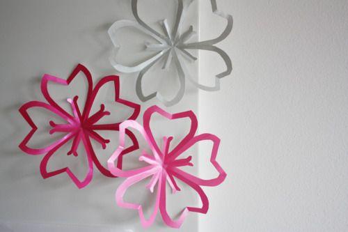 DIY Paper Cherry Blossoms
