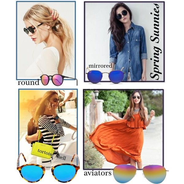 Sunglass Style by patricia-dimmick on Polyvore featuring D.P-Shop, Free People, Spektre, Oliver Peoples, Ray-Ban, Kyme, Michael Kors, sunglasses and mirrormirror