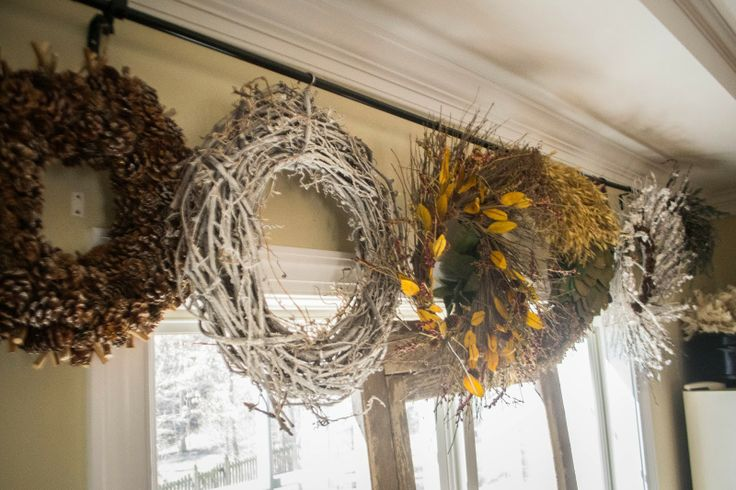 Wreath Storage Bar