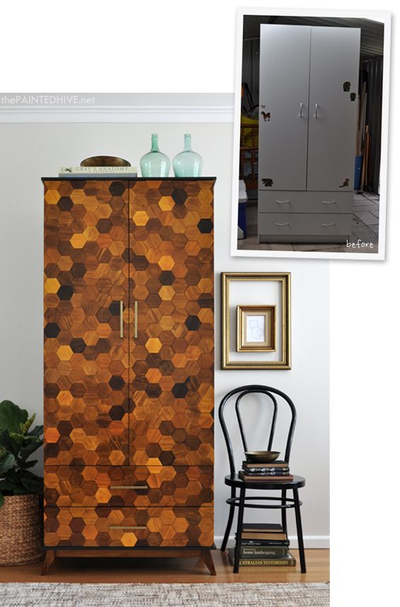 Amazing Transformation Of An Old Melamine Cupboard Using