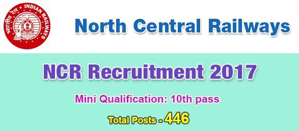 North Central Railway Recruitment 2018 Government Jobs