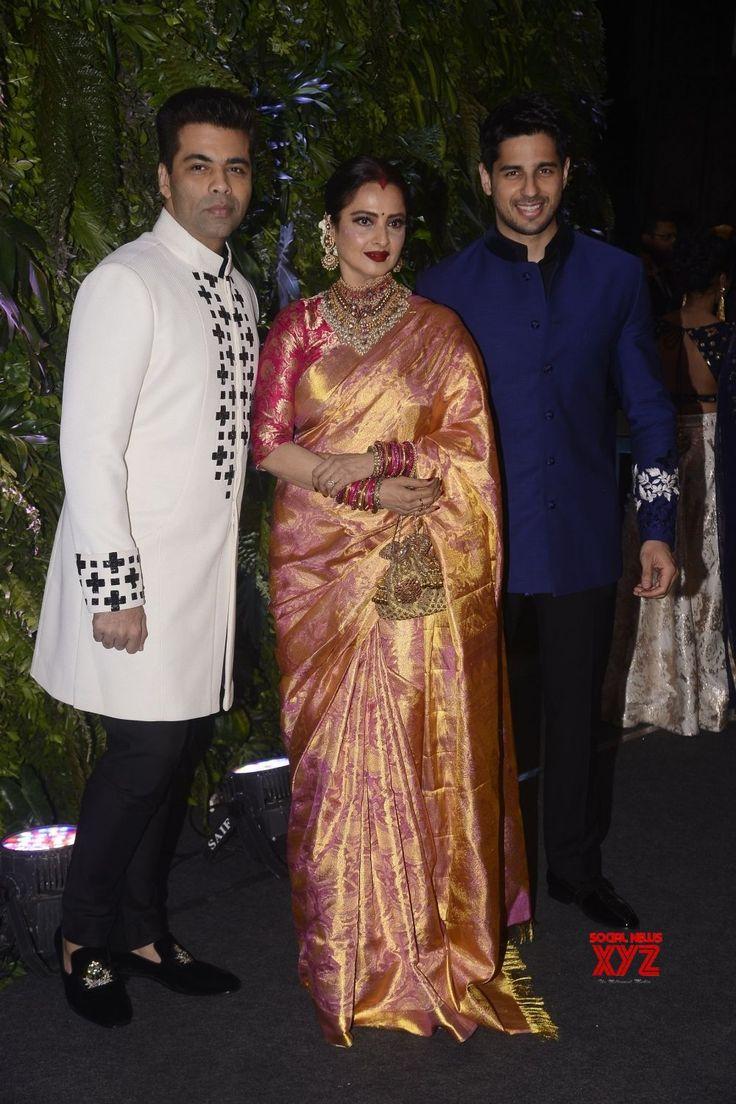 Mumbai: Virat Kohli  Anushka Sharma's wedding reception  Karan Johar, Rekha and Sidharth Malhotra - Social News XYZ