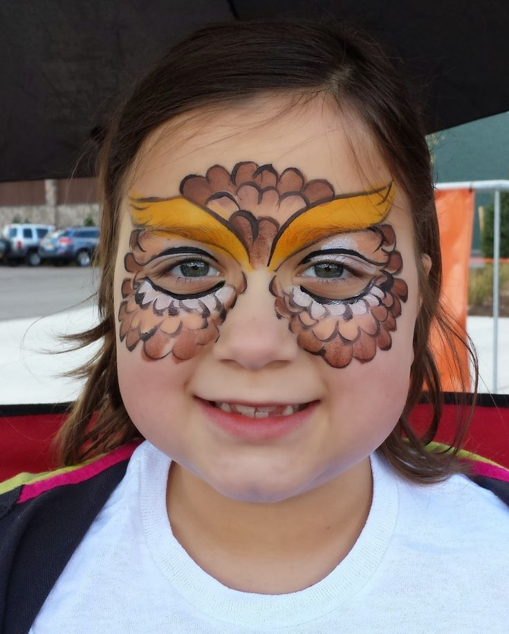 owl face painting - Google Search