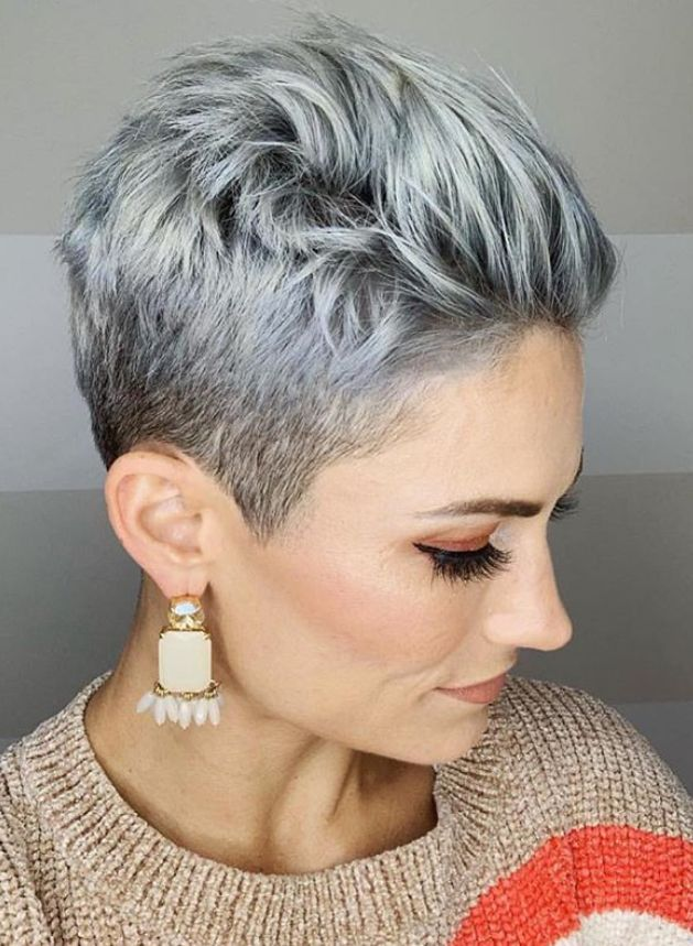 25 Best White Pixie Haircut Ideas For Cool Short Hairstyle - Page 11 of 30 - Latest Fashion Trends For Woman | Short pixie haircuts, Thick hair styles, Short hair styles pixie