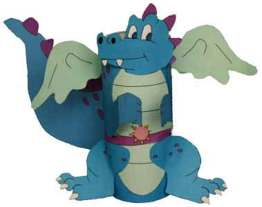 cardboard tube dragon with template - St Georges day
