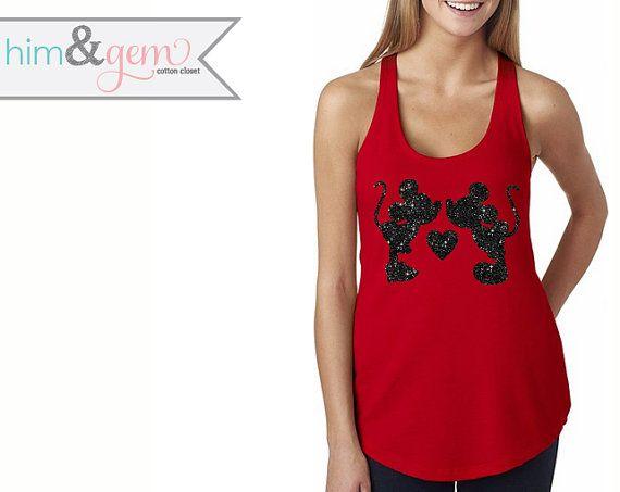 Hey, I found this really awesome Etsy listing at https://www.etsy.com/listing/222407978/glitter-disney-shirt-minnie-mickey-kiss