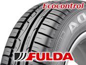 #FULDA #téligumi, #nyárigumi és márka  FULDA ECOCONTROL  Fulda ECOCONTROL A Fulda ECOCONTROL egy kitűnő minőségű nyárigumi, főként azoknak az autóvezetőknek, akik nagy jelentőséget tulajdonítanak a jó ár/érték aránynak. Ez az abroncs a kisautók és közép kategória járművei számára készül azok igényei szerint optimalizálva. Kiegyensúlyozott menettulajdonságokat kínál rendkívül rövid fékúttal és magas szintű utazási kényelmet.