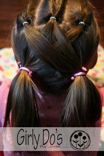 A website full of fun little girl hairstyles... you know, if she ever decides to grow hair