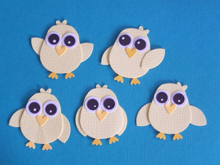 Easter chicks from owl builder punch