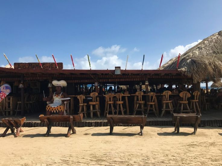 Big Mama's grill and bar in Aruba, located off Baby Beach  #travel #paradise #vacation #instatravel #guide #instago #trip #photooftheday #fun #tourism #instapassport #travelgram #igtravel #traveladvice #travelblog #thewanderlustwriter #wanderlust #CaribbeanTravel #thewanderlustwriter #Aruba #oceanviews #restaurants #bars