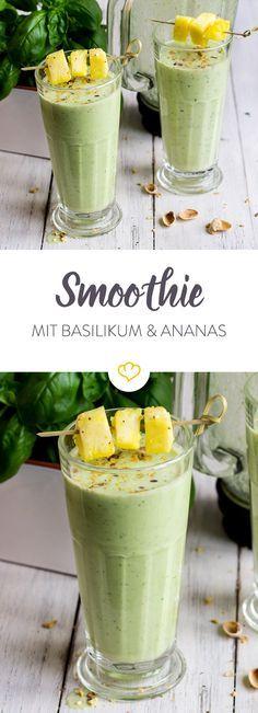 Basilikum Ananas Smoothie