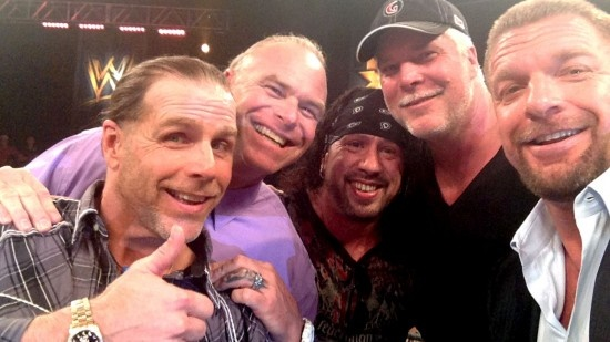 Shawn Michaels on NXT with Triple H, Billy Gunn, X-Pac  and Kevin Nash