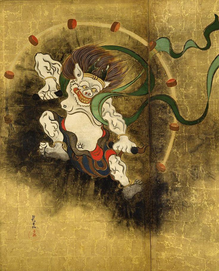 Ogata Korin. Wind God and Thunder God. Edo Period. 1700s.