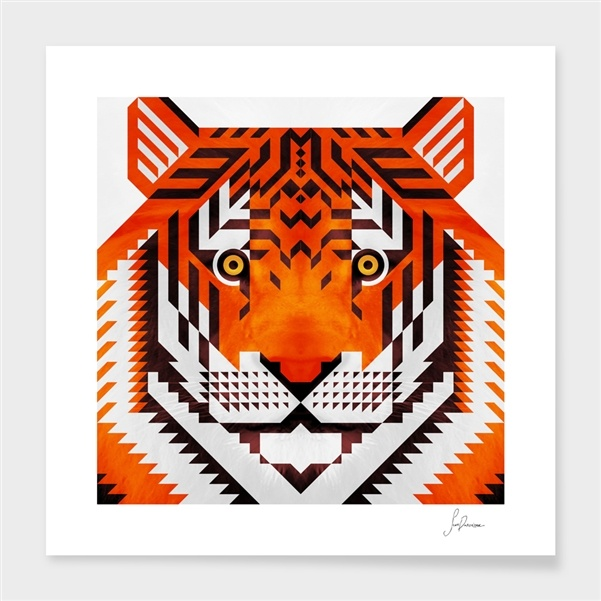 "Curioos.com | ""triangle tiger 2"" by Scott Partridge  - Gallery Quality Art Print"