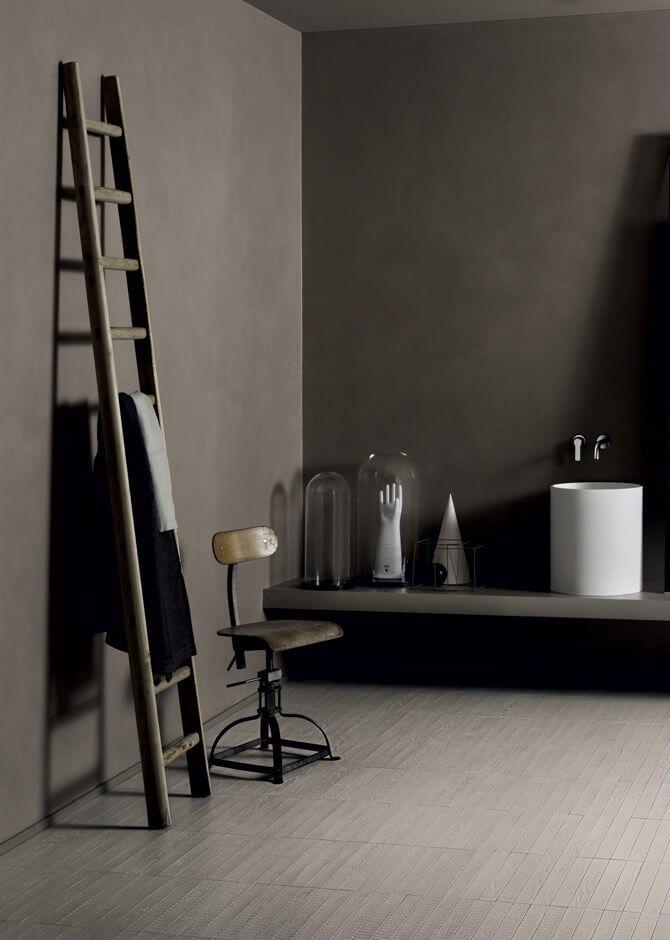 Rivestimento con texture in cemento materico spatolato WALLCRETE (WCR) - Kerakoll Design House