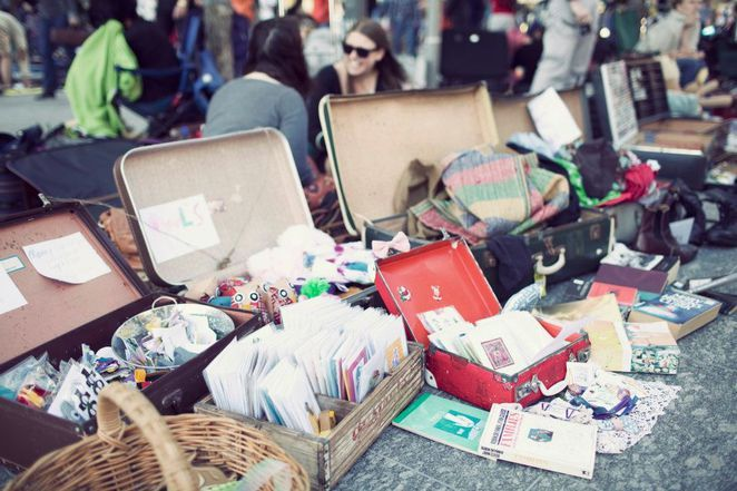Suitcase Rummage Fed Square, Melb 14th June