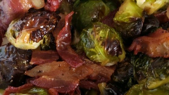 Brussels sprouts are roasted with bacon, maple syrup, and olive oil for a smokey…   – Geeks Who Dinner