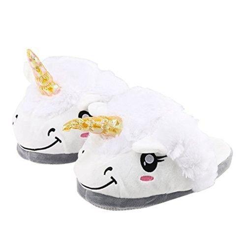 Adult Plush Unicorn Slippers