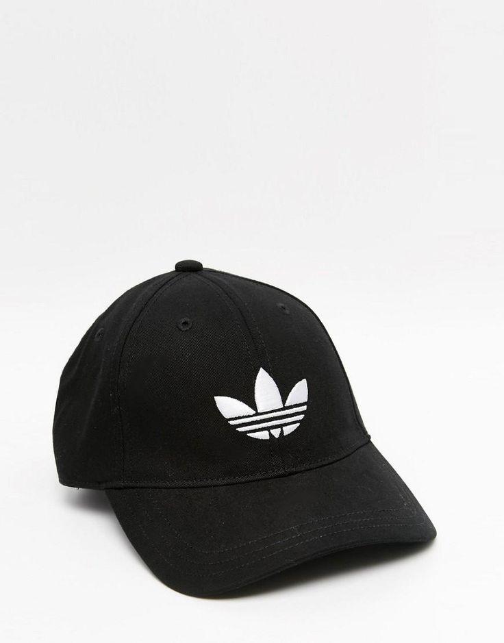 adidas Originals | adidas Originals Trefoil Cap In Black at ASOS