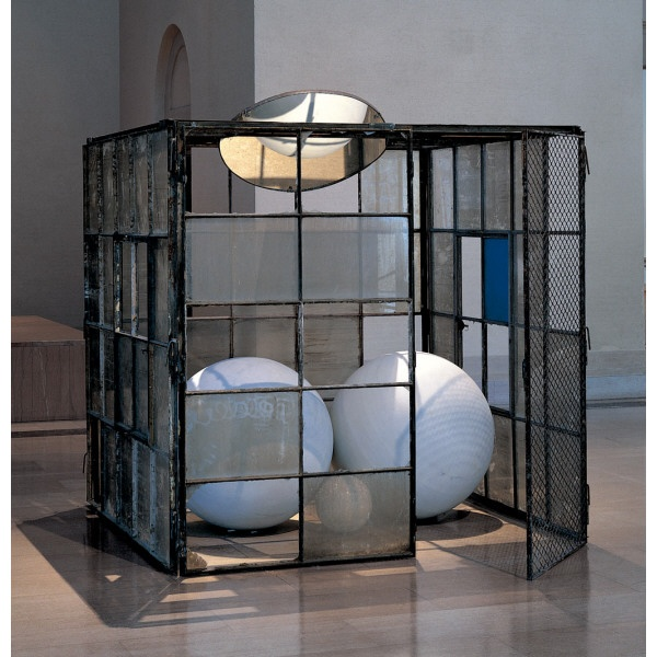 Cell (Three White Marble Spheres), by Louise Bourgeois. It's like a warehouse for perspective!