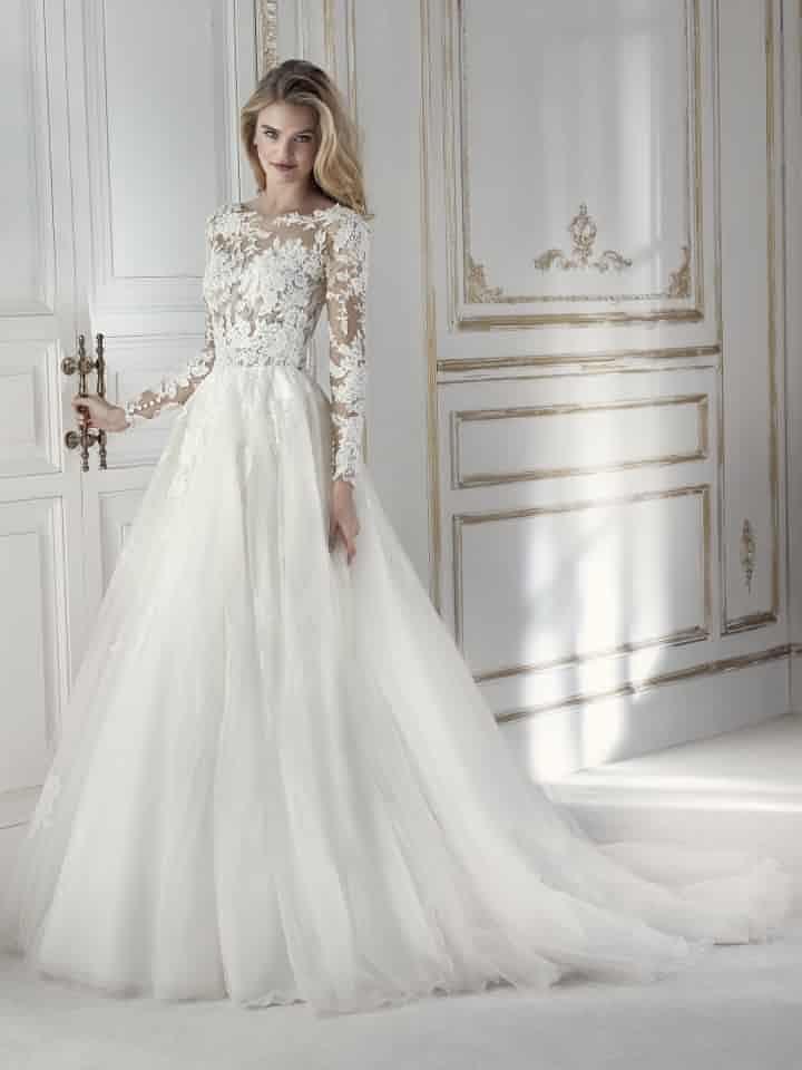 vestidos de novia la sposa 2018: siluetas glamurosas con un toque de