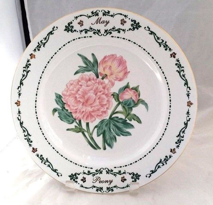 Pink Peony flowers of May 10½u201d replacement dinner decorative porcelain plate  sc 1 st  Pinterest & 28 best Flowers design decorative u0026 dinner plates images on ...