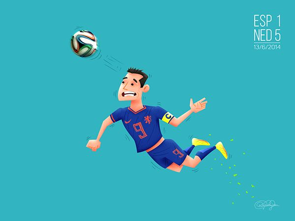 Moments of The FIFA World Cup - Brazil 2014 by Dipanjan Biswas, via Behance