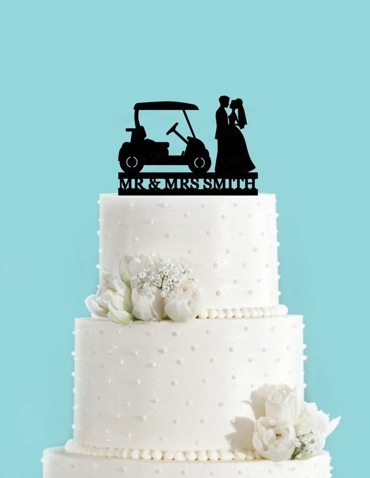 Custom Country Club Wedding Golf Cake Topper Acrylic By ChickDesignBoutique On Etsy