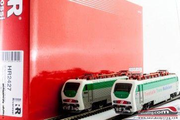 RIVAROSSI HR2427 - H0 1:87 - Doppia Locomotiva Elettrica E 402B 138 e 150 entrambe motorizzate