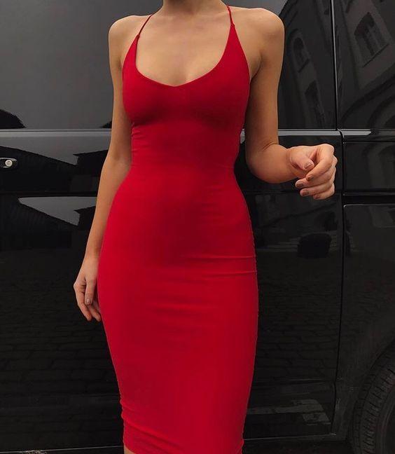 Vestidos rojos que nunca fallan en ocasiones especiales
