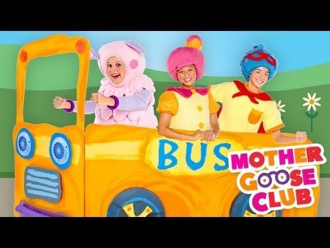The Wheels on the Bus Go Round and Round (with Actions) - Mother Goose Club Songs for Children - YouTube