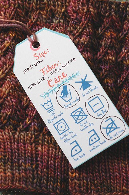 Free Printable Knitting Tags | First Pancake Studios-awesome!