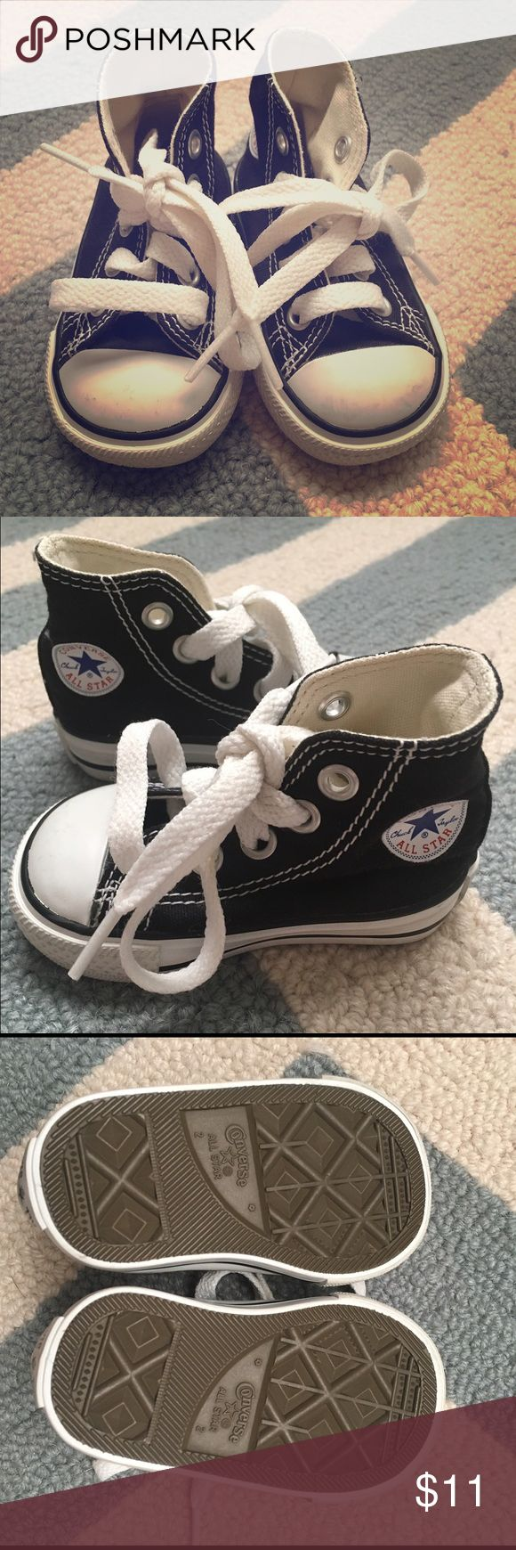 Baby Converse All Star High Top Sneakers Like new classic black Converse All Star High Tops. Size 2. Converse Shoes Sneakers