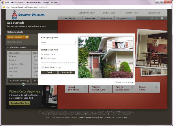 Virtual House Painter – Trying On Paint Colors