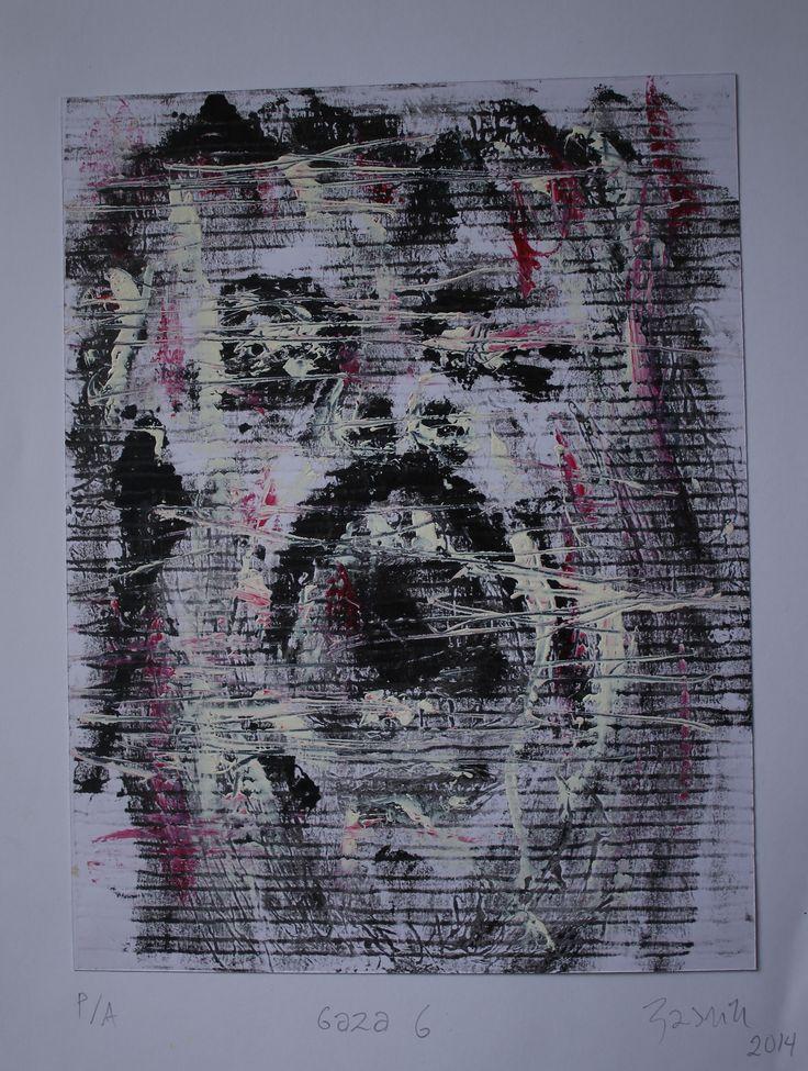 Serie Gaza # 6 Grabado sobre Papel 28x22 cm