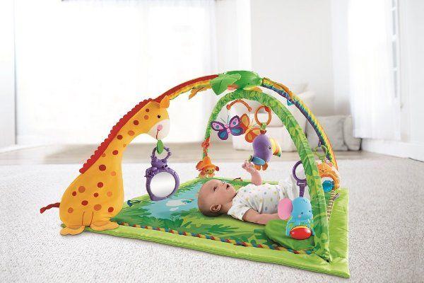 ¡Chollo! Gimnasio Fisher-Price con Sonidos de la Selva para tu bebé por 58.78 euros.
