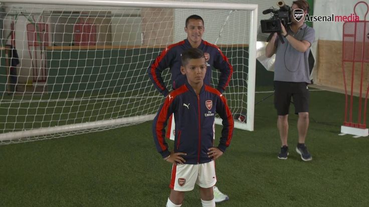 He's behind you!  Watch Alexis Sanchez and Granit Xhaka surprise some young fans at London Colney...
