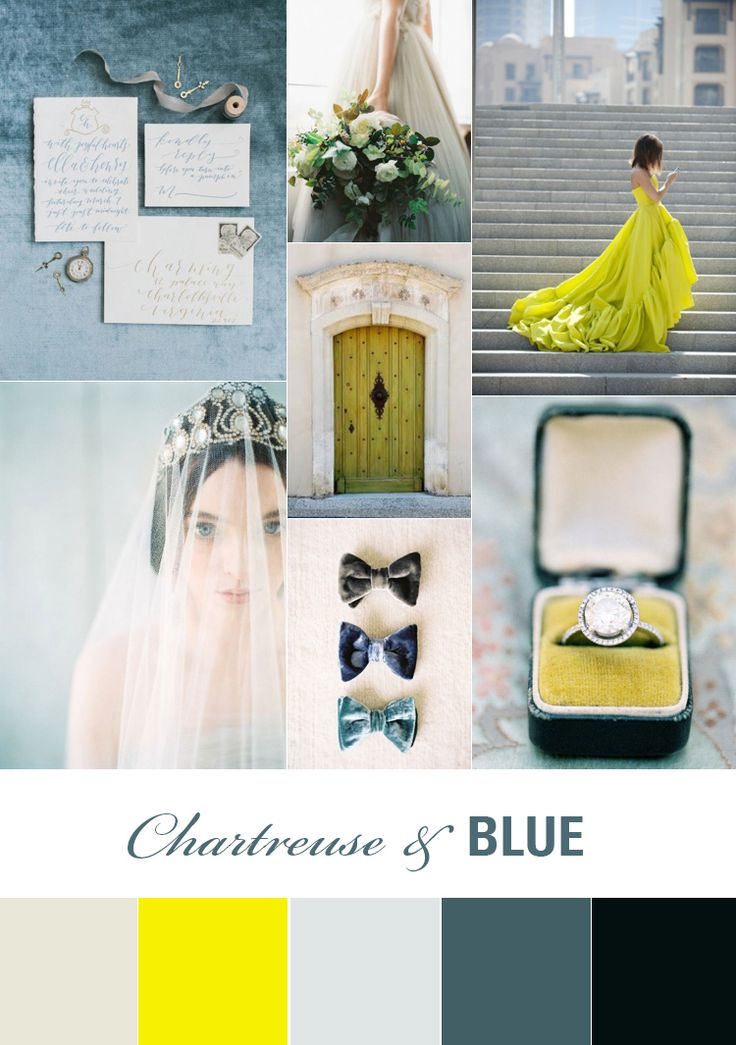 Chartreuse Wedding Inspiration Board | Fly Away Bride